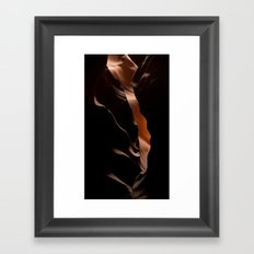 Antelope Canyon Cave - Abstract  Framed Art Print