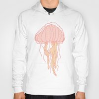jellyfish Hoodies featuring Jellyfish by Doucette Designs