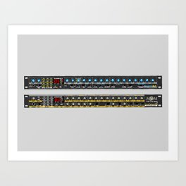 Novation Bass Station and Drum Station Art Print