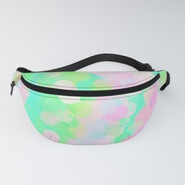 A Spring Day: abstract watercolor in blues and pinks Fanny Pack