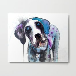Great Dane Drip Picture Metal Print