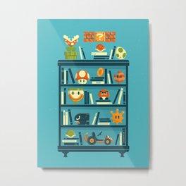 Mario Shelf Metal Print