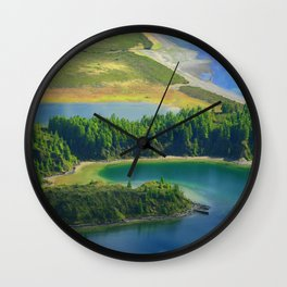 Colorful lake Wall Clock