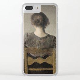 Rest by Vilhelm Hammershøi, 1905 Clear iPhone Case