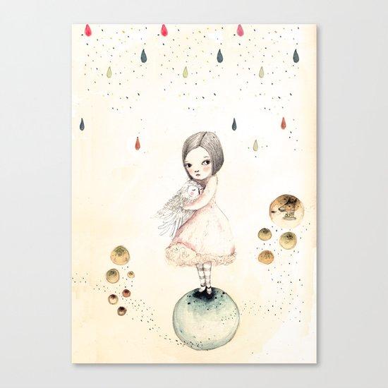 sofi and the owlo Canvas Print