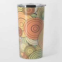 Layered circles Travel Mug
