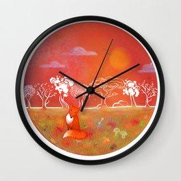 Aki, the Spirit of Autumn Wall Clock