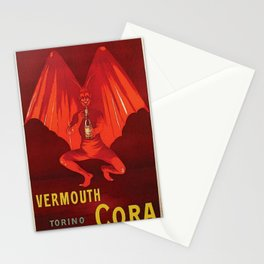 Vintage 1920's Vermouth Torino Cora Alcoholic Beverage Advertisement by Leonetto Cappiello Stationery Cards