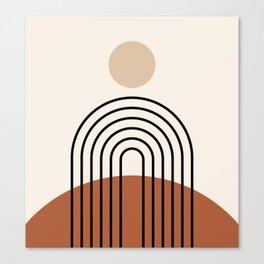 Abstraction_SUN_LINE_BOHEMIAN_LANDSCAPE_POP_ART_1129B Canvas Print