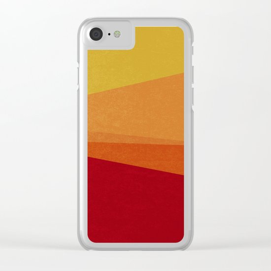Stripe X Orange Peel Clear iPhone Case