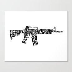 Pew Pew AR-15 Canvas Print