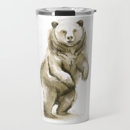 Bear Watercolor Animal Travel Mug