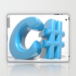 C# Blue Laptop & iPad Skin