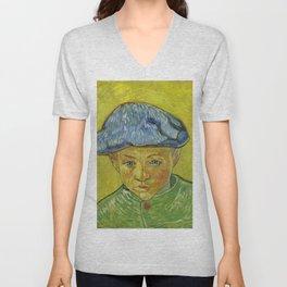 "Vincent van Gogh ""Portrait of Camille Roulin"" Unisex V-Neck"