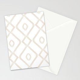 Modern Boho Ogee in Tan Stationery Cards
