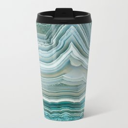 Agate Crystal Blue Metal Travel Mug