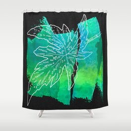 leaf and leafs green Shower Curtain