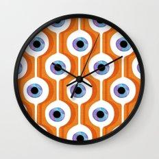 Eye Pod Orange Wall Clock