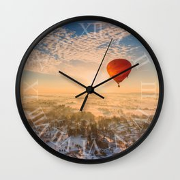 Floating Sunrise Wall Clock