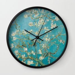 Vincent Van Gogh's Branches of an Almond Tree in Blossom Wall Clock