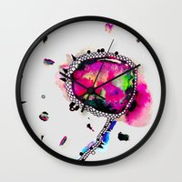 voyage Wall Clocks featuring voyage by Georgiana Paraschiv