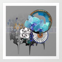 orchid Art Prints featuring Orchid by Sabah