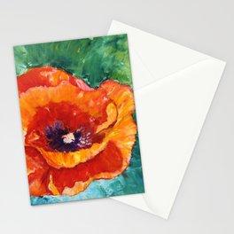 Impressionistic Oriental Poppy Stationery Cards