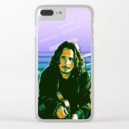 Chris Cornell retro Clear iPhone Case