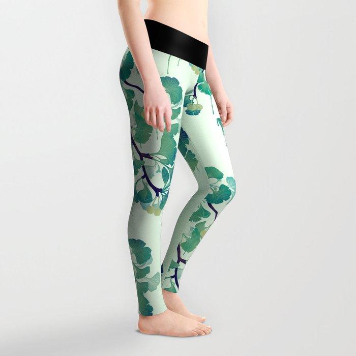 O Ginkgo (in Green) Leggings