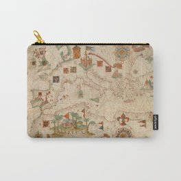 Old Map Of Europe And North Africa Carry-All Pouch