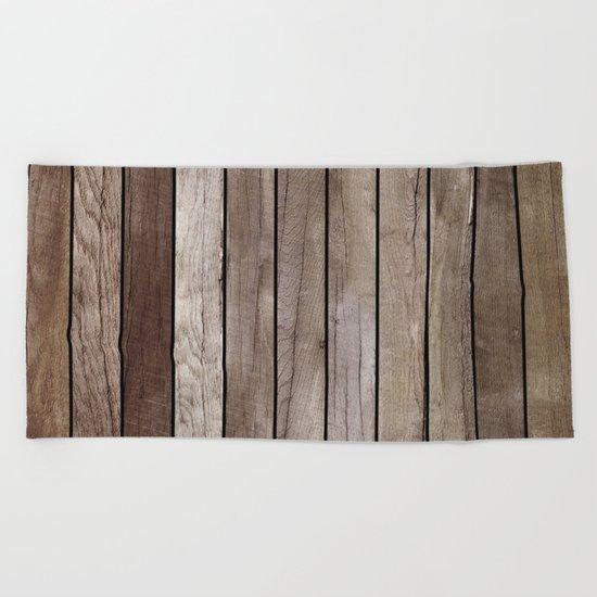 Wooden Texture Beach Towel