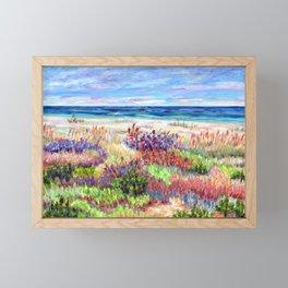 Winter Dunes, Barnegat Light, Long Beach Island, New Jersey Framed Mini Art Print