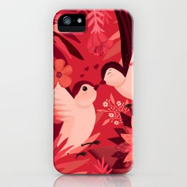 Birds in love iPhone Case