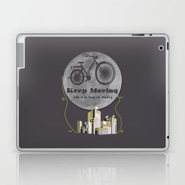 Moon Keep Moving Bicycle Laptop & iPad Skin
