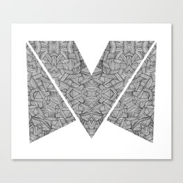 M zigzag Canvas Print