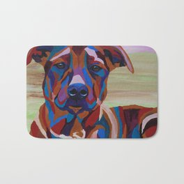 Colorful Pitbull Bath Mat