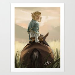 Sunset Zelda Art Print