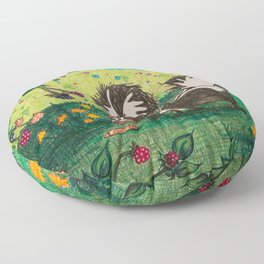 Skunk Picnic Floor Pillow