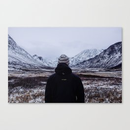 Chasing snow Canvas Print
