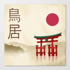 Torii Gate - Painting Canvas Print