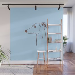 Italian Greyhound (Blue and Taupe) Wall Mural