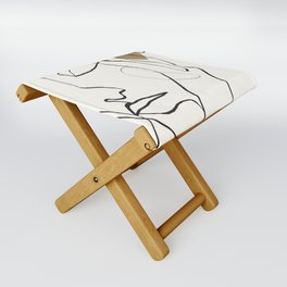 Abstract Face Folding Stool