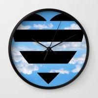 moschino Wall Clocks featuring Moschino Heart by cvrcak