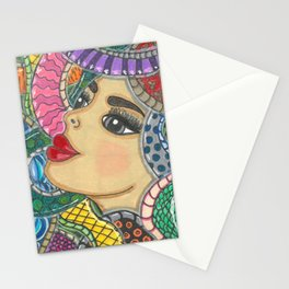 Colorful Medusa Stationery Cards