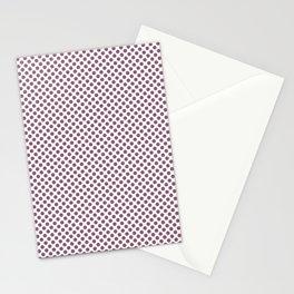 Grape Nectar Polka Dots Stationery Cards