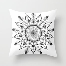 Mandala Lotus Tattoo nr. 48 Throw Pillow