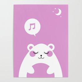 Sound Asleep Bear Poster