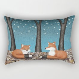 starlit foxes Rectangular Pillow