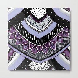Lavender Tribal Feathers Metal Print