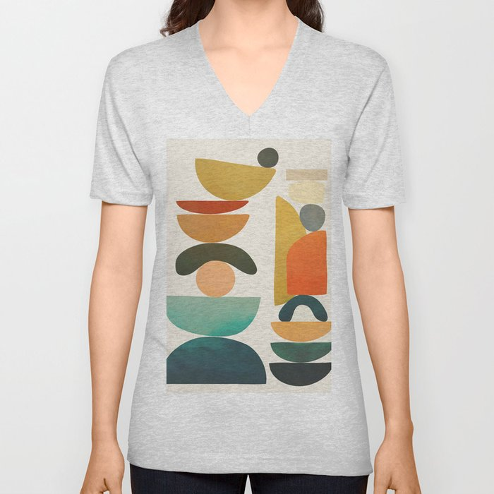Modern Abstract Art 72 Unisex V-Neck